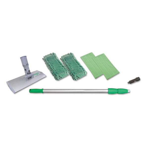 """Indoor Window Cleaning Kit, Aluminum, 72"""" Extension Pole, 8"""" Pad Holder"""
