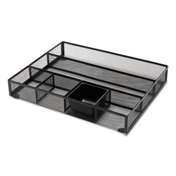 Metal Mesh Drawer Organizer, 15 X 11 7/8 X 2 1/2, Black