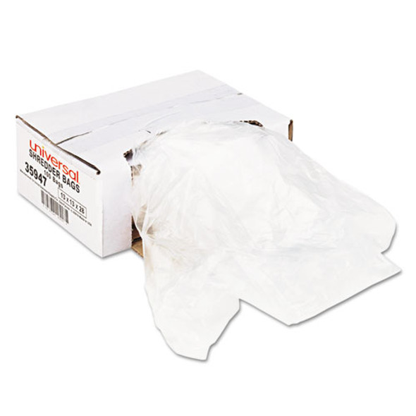 High-density Shredder Bags, 16 Gal Capacity, 100/box - IVSUNV35947