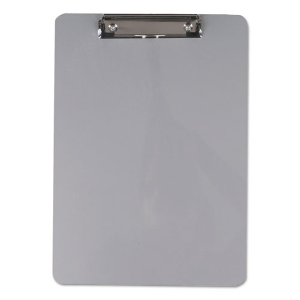 "Aluminum Clipboard With Low Profile Clip, 1/2"" Capacity, 8 X 11 1/2 Sheets"