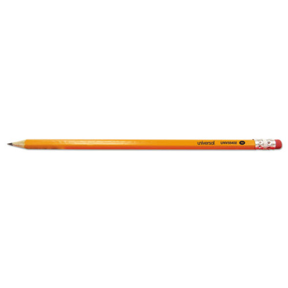 #2 Pre-sharpened Woodcase Pencil, Hb (#2), Black Lead, Yellow Barrel, 72/pack