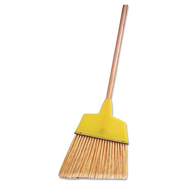 """Angle Broom, Flagged Plastic Bristles, 7-1/2"""" - 6"""" Bristles, 54"""" Length"""