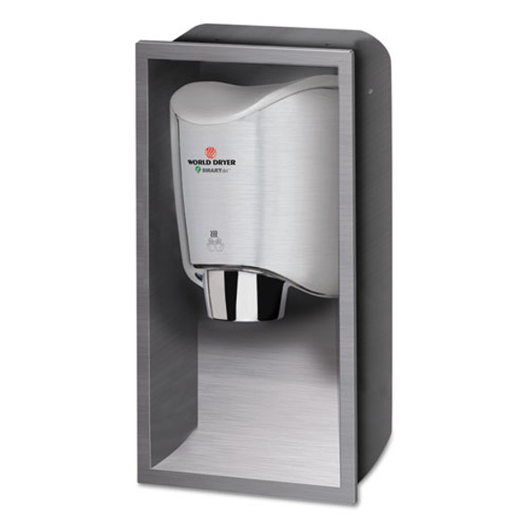 Smartdri Hand Dryer Recess Kit, 15l X 4w X 25h, Stainless Steel