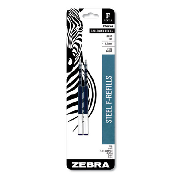 F-refill, Fine Point, Blue Ink, 2/pack