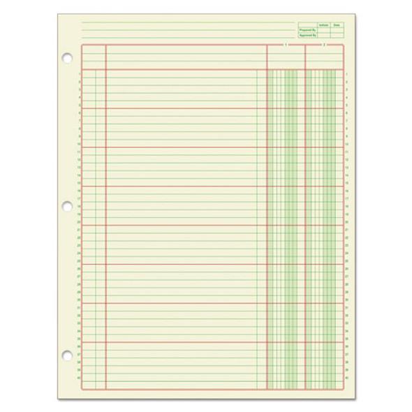 Columnar Analysis Pad, 2 Column, 8 1/2 X 11, Single Page Format, 50 Sheets/pad