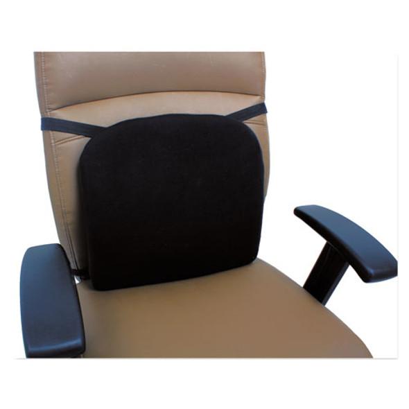 Cooling Gel Memory Foam Backrest, 14.13 X 14.13 X 2.75, Black