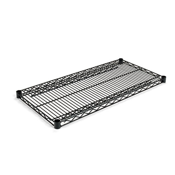 Industrial Wire Shelving Extra Wire Shelves, 36w X 18d, Black, 2 Shelves/carton