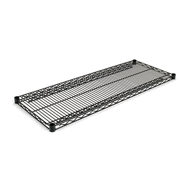 Industrial Wire Shelving Extra Wire Shelves, 48w X 18d, Black, 2 Shelves/carton