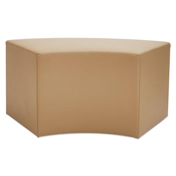 Alera We Series Collaboration Seating, Arc Bench, 38.38w X 21d X 18h, Chestnut