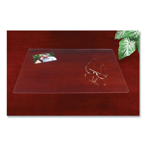 Eco-clear Desk Pad With Antimicrobial Protection, 17 X 22, Clear Polyurethane