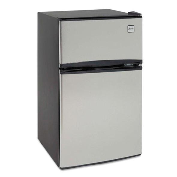 Counter-height 3.1 Cu. Ft Two-door Refrigerator/freezer, Black/stainless Steel