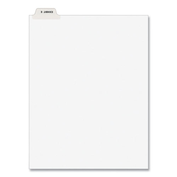 Avery-style Preprinted Legal Bottom Tab Divider, Exhibit E, Letter, White, 25/pk