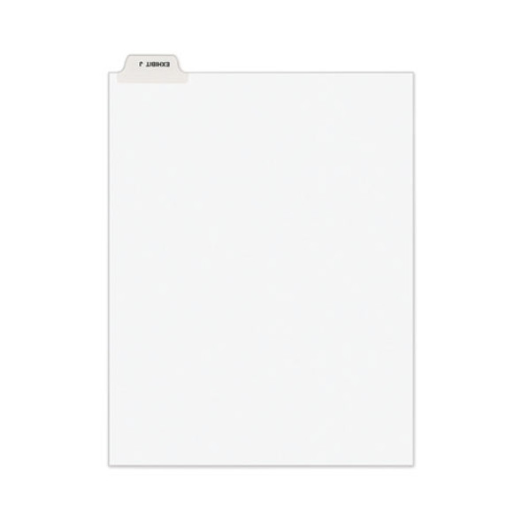 Avery-style Preprinted Legal Bottom Tab Divider, Exhibit J, Letter, White, 25/pk