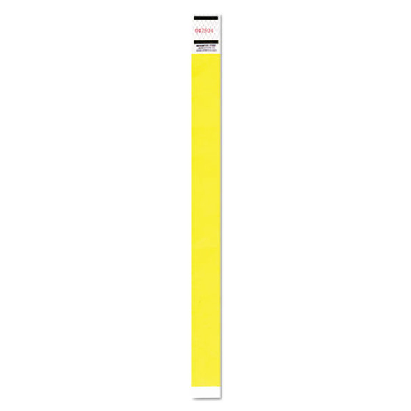 Crowd Management Wristband, Sequential Numbers, 9 3/4 X 3/4, Neon Yellow,500/pk