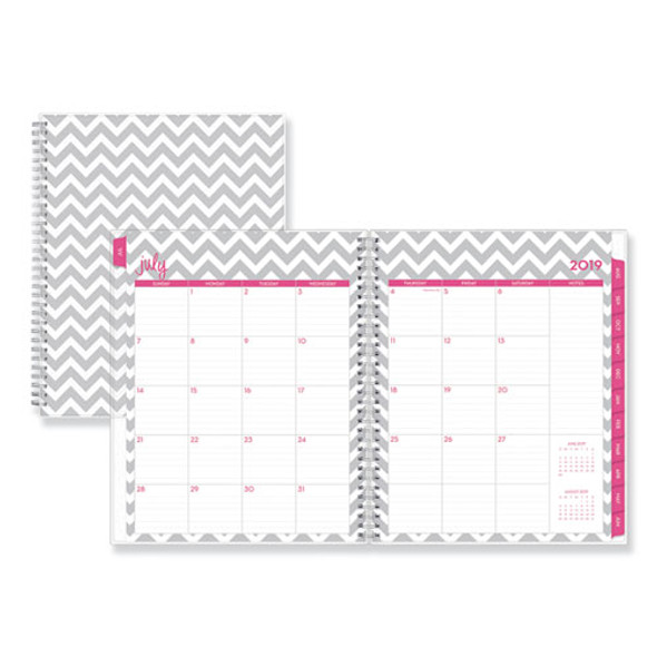 Dabney Lee Ollie Academic Weekly/monthly Planner, Gray Chevron, 8.5 X 11, 2020-2021
