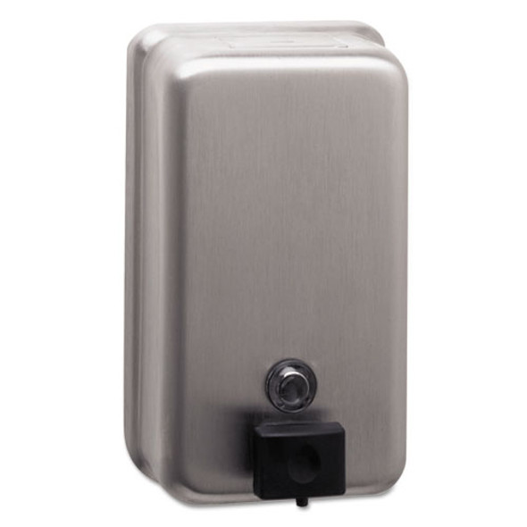 """Classicseries Surface-mounted Soap Dispenser, 40 Oz, 4.75"""" X 3.5"""" X 8.13"""", Stainless Steel"""