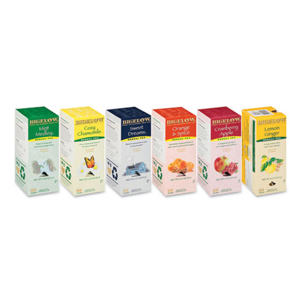 Assorted Tea Packs, Six Flavors, 28/box, 168/carton - IVSBTC17578