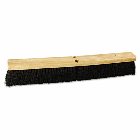 "Floor Brush Head, 24"" Wide, Polypropylene Bristles"