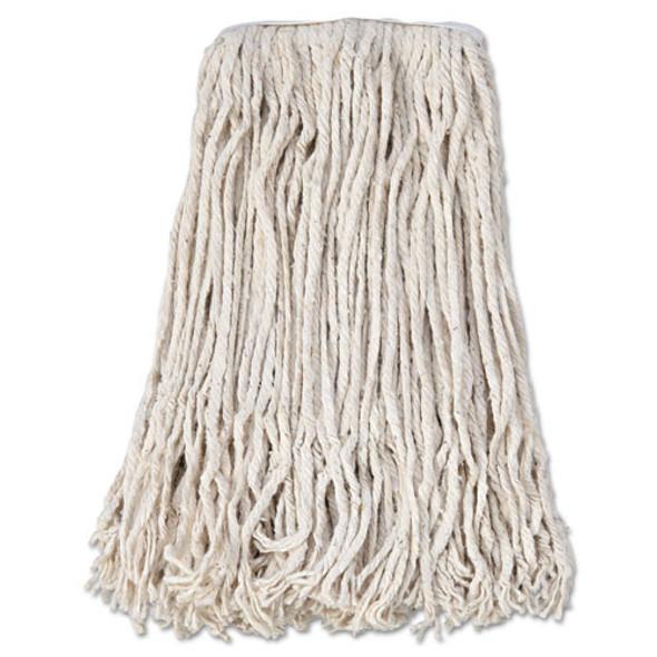 Banded Cotton Mop Head, #24, White, 12/carton