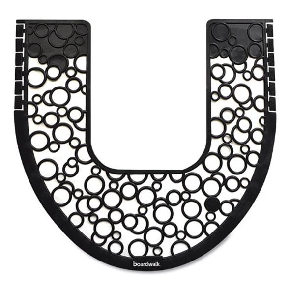 Commode Mat 2.0, Rubber, 22.88 X 22, Black/white, 6/carton