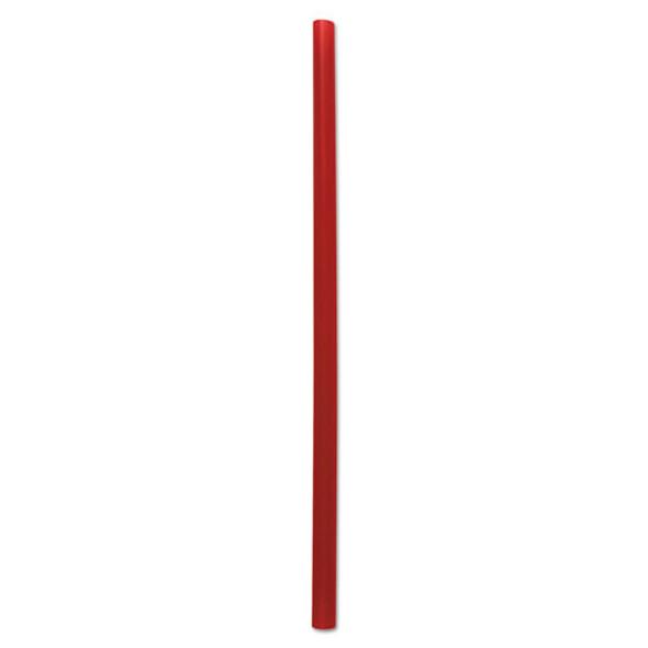 """Giant Straws, 7 3/4"""", Red, 1500/carton"""