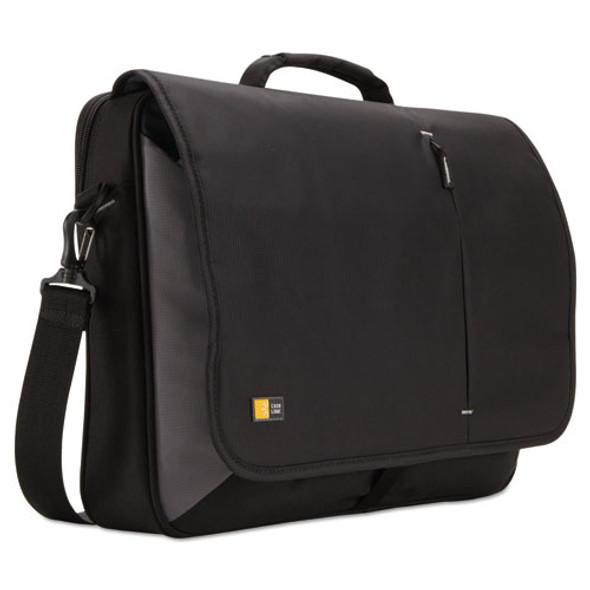 "17"" Laptop Messenger, 3 3/8 X 17 3/4 X 13 3/4, Black"