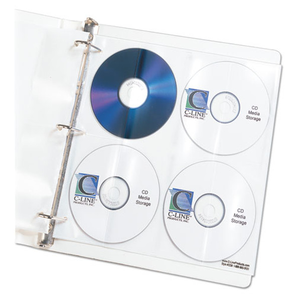 Deluxe Cd Ring Binder Storage Pages, Standard, Stores 8 Cds, 5/pack