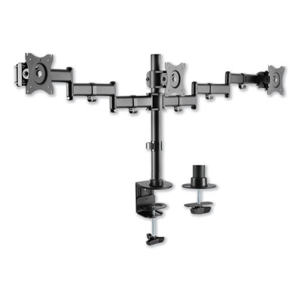 "Adaptivergo Pole-mounted Monitor Arm, Triple Monitor Up To 27"", Black"
