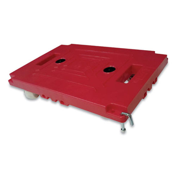 """Mule Dollies, 500 Lb Capacity, 17.75"""" X 12.75"""" X 3.375"""", Red, 2/pack"""