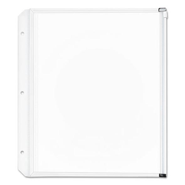 Expanding Zipper Binder Pockets, 11 X 8 1/2, Clear, 3/pack