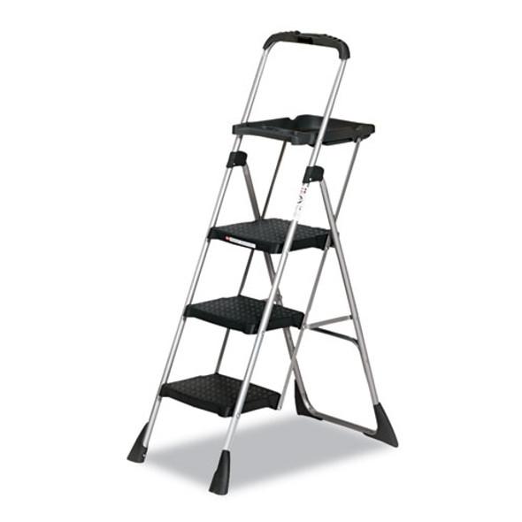 "Max Work Platform, 55"" Working Height, 225 Lbs Capacity, 3 Step, Black"