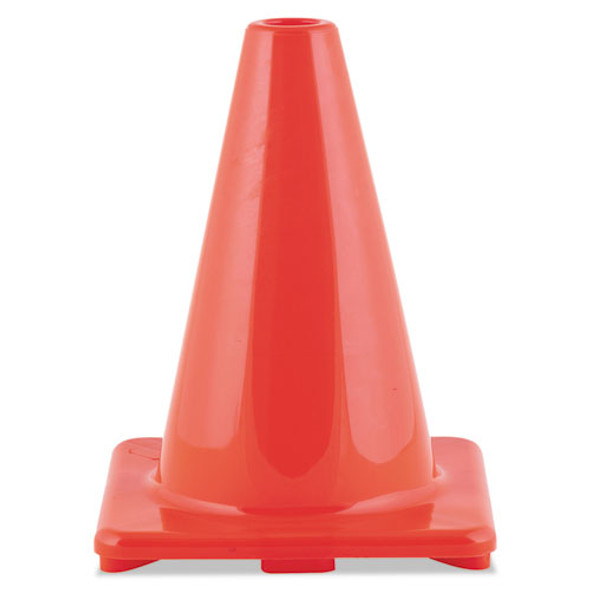 """Hi-visibility Vinyl Cones, 6"""" Tall, Orange"""