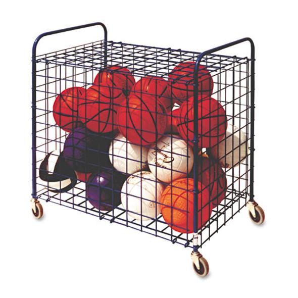 Lockable Ball Storage Cart, 24-ball Capacity, 37w X 22d X 20h, Black