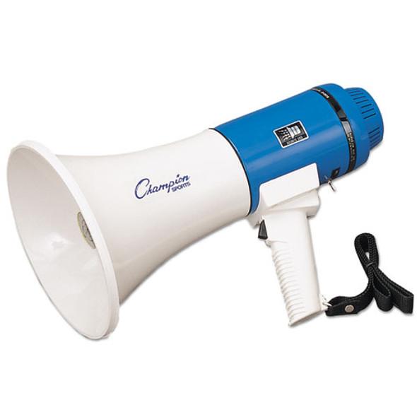 Megaphone, 12-25w, 1000 Yard Range, White/blue