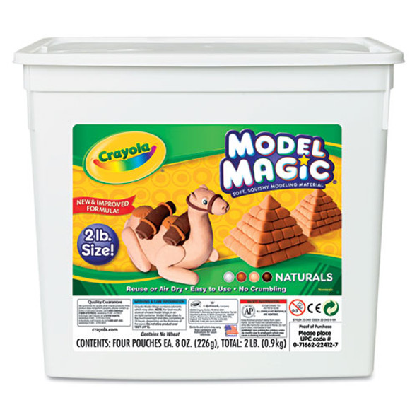 Model Magic Modeling Compound, Assorted Natural Colors, 2 Lbs.