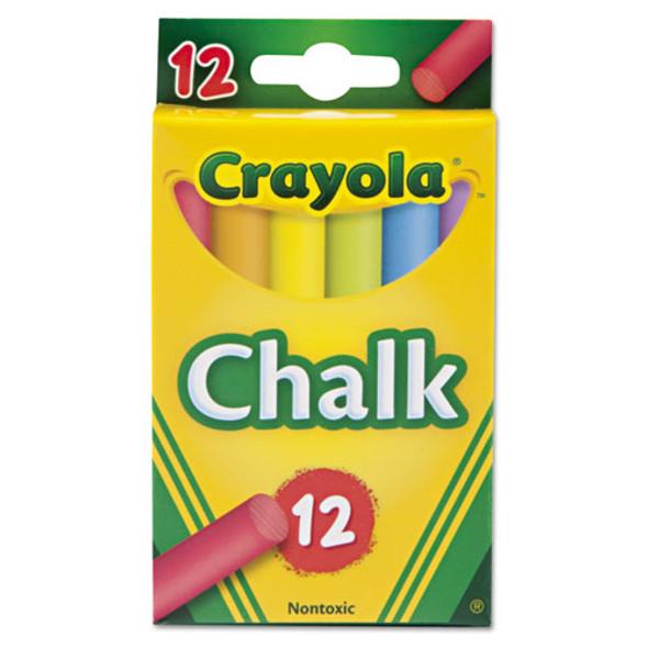 Chalk, 6 Assorted Colors, 12 Sticks/box