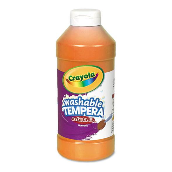 Artista Ii Washable Tempera Paint, Orange, 16 Oz