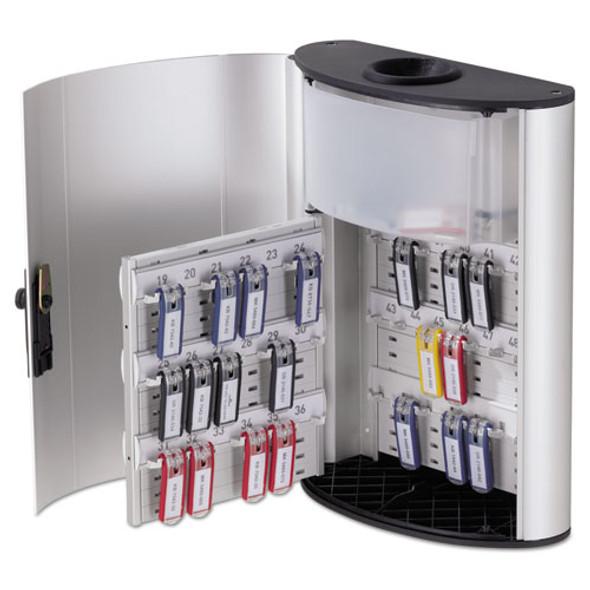 Key Box Plus, 54-key, Brushed Aluminum, Silver, 11 3/4 X 4 5/8 X 15 3/4