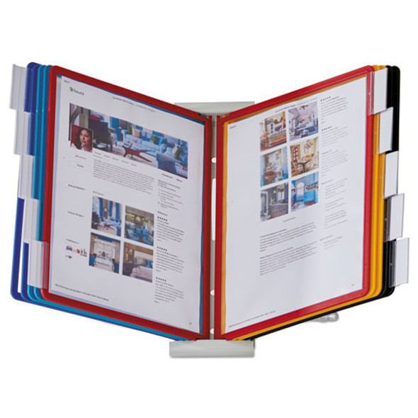 Instaview Expandable Desktop Reference System, 10 Panels, Assorted Borders