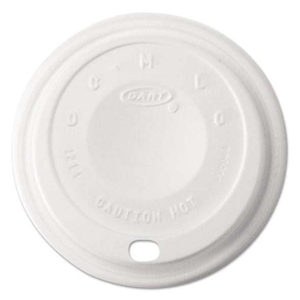 Cappuccino Dome Sipper Lids, 12 Oz, White