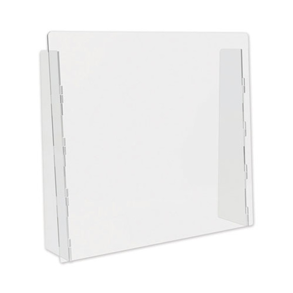 """Counter Top Barrier With Full Shield, 27"""" X 6"""" X 23.75"""", Polycarbonate, Clear, 2/carton"""