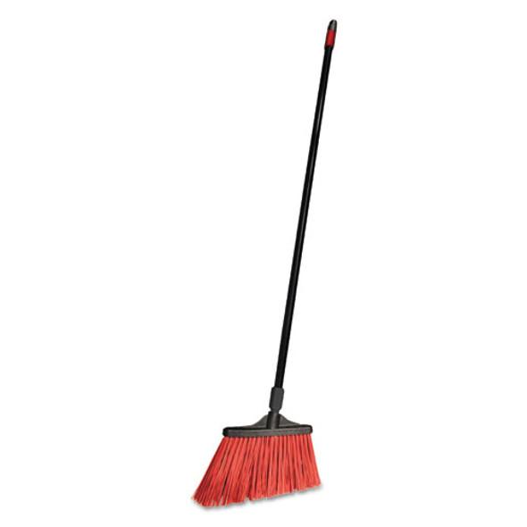 """Maxistrong Angle Broom, Polypropylene Bristles, 56"""" Handle, Black, 6/carton"""