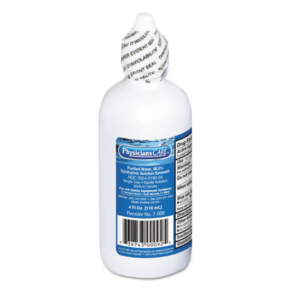 First Aid Refill Components Disposable Eye Wash, 4oz