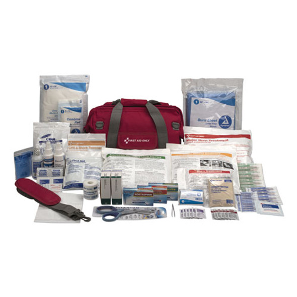 All Terrain First Aid Kit, 112 Pieces, Ballistic Nylon, Red