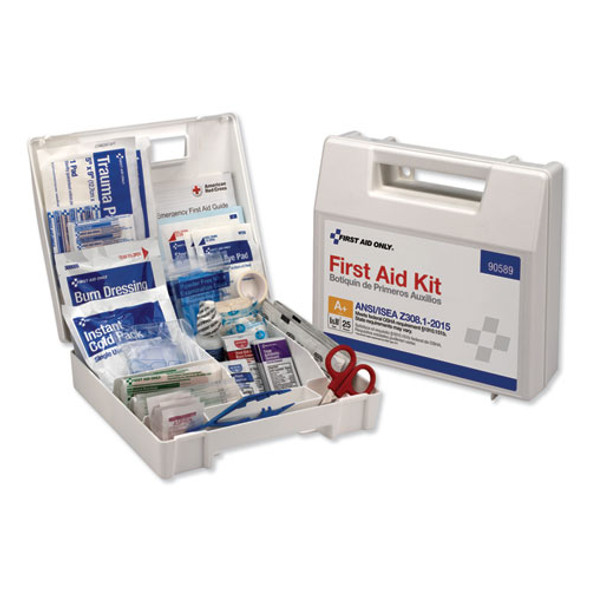 Ansi 2015 Compliant Class A+ Type I & Ii First Aid Kit For 25 People, 141 Pieces
