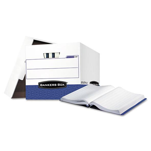 "Data-pak Storage Boxes, Letter Files, 13.75"" X 17.75"" X 13"", White/blue, 12/carton"