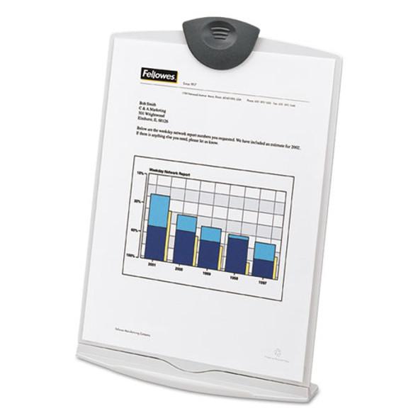 Copy Stand, Plastic, 75 Sheet Capacity, Platinum/charcoal