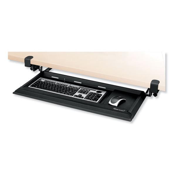 Designer Suites Deskready Keyboard Drawer, 19.19w X 9.81d, Black Pearl