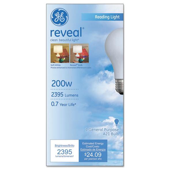 Reveal A21 Light Bulb, 200 W
