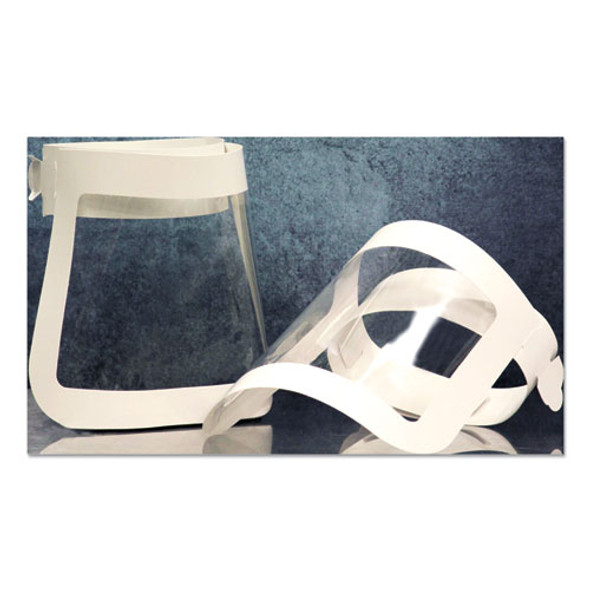 Face Shield, 20.5 To 26.13 X 10.69, One Size Fits All, White/clear, 225/carton